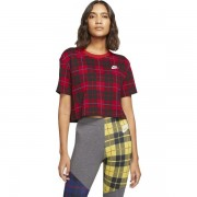 NSW TEE FUTURA PLAID CROP dama