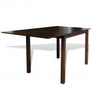 vidaXL Barna meghosszabbítható tömör fa étkezőasztal 150 cm