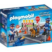 Blocaj rutier al Politiei Police Playmobil