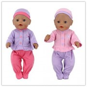 2Color Choose New Leisure set clothes+hat Clothes Wear fit 43cm Baby Born zapf, Children best Birthday Gift