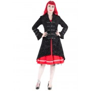 kabát női tavaszi / őszi HEARTS AND ROSES - Flocked Tattoo - 0304B