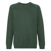 Dziecięca bluza Premium Raglan Sweat Fruit of the Loom Butelkowy zielony