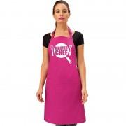 Bellatio Decorations Master Chef keukenschort roze dames
