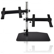 Pyle Double DJ Laptop Stand Mixer Stand Studio Gear Rack Mount Dual Stand Computer PC Table Top Work Station PA Thorn Holder (PLPTS45)