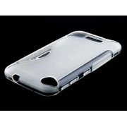 Wave Case for HTC Desire 320 - HTC Soft Cover (Frosted Clear/Clear)