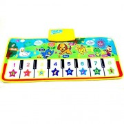 Musical Piano Mat for Toddlers/Kids, Educational Music Toy Carpet, Colorful Animal Sound Baby Touch Play Keyboard for Fun