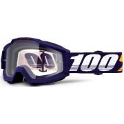 100% Accuri Grib Óculos de motocross Branco Azul único tamanho