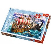 Puzzle Lupta pe mare, 100 piese