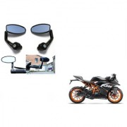 Kunjzone Premium Quality Motorycle Bar End Mirror Rear View Mirror Oval for KTM RC 200