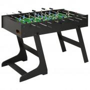 vidaXL Folding Football Table 121x61x80 cm Black