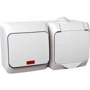 CEDAR PLUS Csatlakozóaljzat védőföldelt + váltókapcsoló 16 A IP44 WDE000505 - Schneider Electric