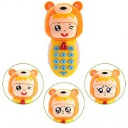 Children Smart Change Face Musical Flashing Mobile Phone Toy with Music and Light
