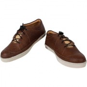 Yellow Tree High Quality Imported YT-Brown Shoes doted Designer Casual Funky Shoes For Mens (R001)