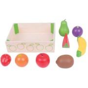 Cutiuta cu fructe de jucarie din lemn pentru activitati BigJigs 8 piese
