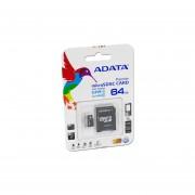 Memoria MicroSDXC UHS-1 ADATA Premier De 64 GB, Clase 10 Incluye Adaptador SD. AUSDX64GUICL10-RA1