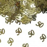 Confetti 50 jaar goudkleurig