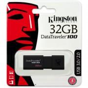 Memoria Flash USB 3.0 Kingston DataTraveler 100 G3 (DT100G3/32GB) 32 GB-Negro