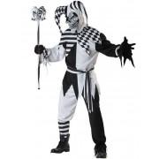 Vegaoo.es Disfraz de arlequín maléfico negro y blanco - M