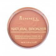 Rimmel London Natural Bronzer SPF15 bronzer 14 g dla kobiet 025 Sun Glow