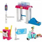 Mattel Lalki poczta Barbie On The Go Poczta zestaw + Lalka