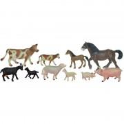 Set animale domestice cu pui Miniland, 10 figurine