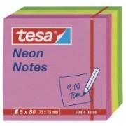 tesa Samolepiace poznámkové bločky Neon 6x80ks, 2x ružová, 2x žltá, 2x zelená, 75mm x 75mm 56004-00000-00