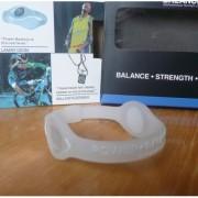Balanční náramek s hologramem Power Balance - průhledný-bílý