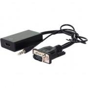 HDMI minijack 3,5 mm D-Sub (VGA), 0,15, negru