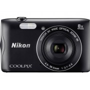 Nikon Coolpix A-300 Digitalkamera 20.1 Megapixel Zoom (optisk): 8 x Svart WiFi, Bluetooth
