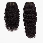 Rapunzel® Extensions Naturali Hair Weft Bouncy Curl 1.2 Black Brown 40 cm