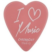 ChromaCast CC-HS-LM-12-PACK I Love Music Heart Shaped Picks in Light Medium and Heavy Gauge - 12-Pack