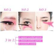 Eyelash Card Cosmetic Mascara Shield Applicator Eye Lash Helper Guide Eyelashes Comb Set of 1