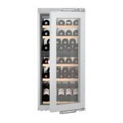 Vitrină de vin încorporabilă EWTdf 2353, 158 L, 48 sticle, Alarmă uşă, Siguranţă copii, Display, Control electronic, Iluminare LED, Rafturi lemn, H 122 cm, Clasa A