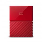 Western Digital My Passport 2Tb Hard Disk Esterno Portatile USB 3.0 Software di backup automatico PC Xbox One PlayStation 4 rosso