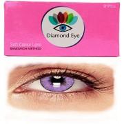 Attractive Diamond Eye UNISEX PURPLE color YEARLY disposable CONTACT LENSES ( ZERO POWER)