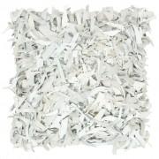 vidaXL Coussin shaggy Gris clair 60x60 cm Cuir et coton