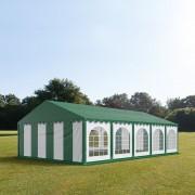 Intent24.fr Tente de réception 5x10m PVC 500 g/m² vert imperméable barnum, chapiteau