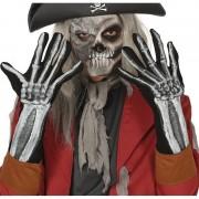 Geen Skelet horror verkleed handschoenen voor volwassenen