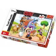 Puzzle clasic pentru copii - Mickey Mouse fermierul 160 piese