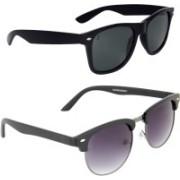 Zyaden Wayfarer, Oval Sunglasses(Black)