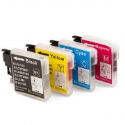 ZipZap LC-980/LC-1100 Pack 20 Cartuchos Multicolor Compatibles Brother