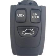Carcasa cheie compatibil Volvo 3 butoane negru