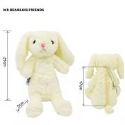 Mr. Bear & His Friends Cute Bunny Plush Animals Rabbit Soft Toys Half-Stuffed Rabbits Dolls Purses Kids Children Toys Openable on the Back - Light Yellow