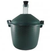 Damigeana 15L, Dop cauciuc, Cos din plastic verde
