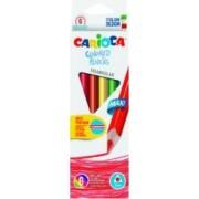 Creioane colorate hexagonale 6 culori-cutie CARIOCA Maxi