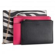 Дамска чанта LIU JO - Triple Flat Pouch A69012 E0456 Zebra Y9125