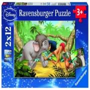Puzzle cartea junglei, 2x12 piese Ravensburger