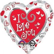 Anagram International Hx Simply Said Love Foil Balloon Multicolor