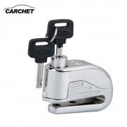 CARCHET Motorcycle Stainless Steel Disc Lock Anti Thief Alarm Security Safety Motorbike Theft Protection 2 Keys FREE SHIPPING