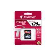 Cartão de Memória SDXC Classe 10 128GB 200x - Transcend